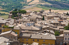 Panoramic view of Orvieto. Umbria. Italy. Royalty Free Stock Photo