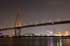 Panoramic view of Osaka city at night Royalty Free Stock Photos
