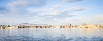 Panoramic view of Oslo, Norway stock photo