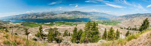 Panoramic View of Osoyoos Stock Photography