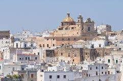 Panoramic view of Ostuni. Puglia. Italy. Stock Image