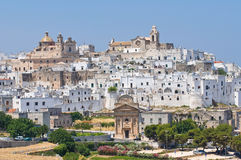 Panoramic view of Ostuni. Puglia. Italy. Stock Image