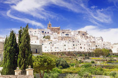 Panoramic view of Ostuni, Puglia, Italy. View of Ostuni, Puglia, Italy Royalty Free Stock Image