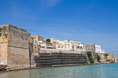 Panoramic view of Otranto. Puglia. Italy. Ancient village with Aragonese castle. Panoramic view of Otranto. Puglia. Italy Stock Photography