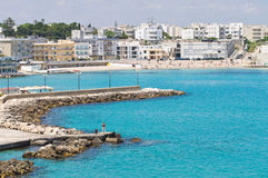 Panoramic view of Otranto. Puglia. Italy. Royalty Free Stock Photo