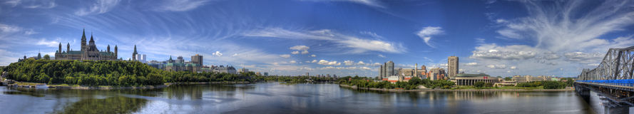 Panoramic view of Ottawa, Canada. A Panoramic view of Ottawa, Canada Royalty Free Stock Image