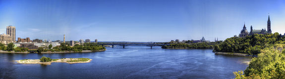 Panoramic view of Ottawa in Canada Royalty Free Stock Images
