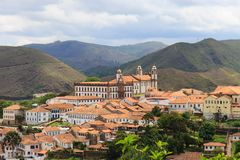 Panoramic view of Ouro Preto in Brazil Stock Photography