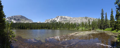 Panoramic view of Ouzel lake Stock Photo