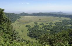 Panoramic view over Arusha National Park Royalty Free Stock Photography