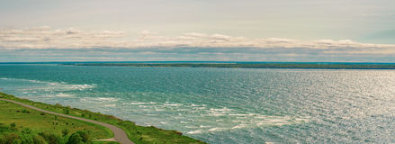 Panoramic view over the Baltic sea Royalty Free Stock Photography