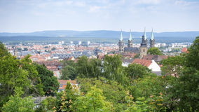 Panoramic view over Bamberg Stock Images