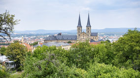 Panoramic view over Bamberg Stock Image