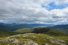 Panoramic view over Buachaille Etive Mor Stock Image