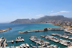 Panoramic view over Calp (Spain) Royalty Free Stock Image