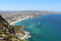 Panoramic view over Calp (Spain) Stock Images
