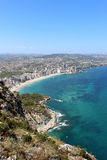 Panoramic view over Calp (Spain). Stock Photos