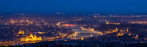 Panoramic view over the city of Budapest Stock Photography