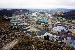 Panoramic view over the city of Salzburg Stock Photos