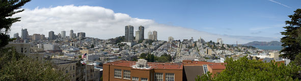 Panoramic view over the city of San Francisco, Califronia Royalty Free Stock Images