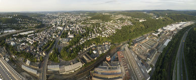 Panorama of Siegen, Germany Stock Image