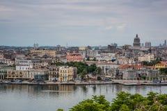 Panoramic view over Cuba capital Havana. Stock Photography