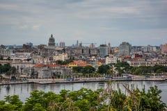 Panoramic view over Cuba capital Havana. Stock Photo