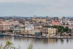 Panoramic view over Cuba capital Havana. Royalty Free Stock Photos