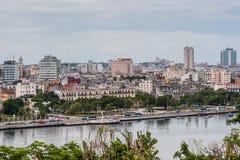Panoramic view over Cuba capital Havana. Stock Photos