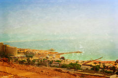 Panoramic view over the Dead sea Royalty Free Stock Image