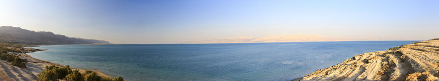 Panoramic view over the Dead sea Royalty Free Stock Images