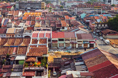 Panoramic view over Georgetown, Penang, Malaysia Royalty Free Stock Photo