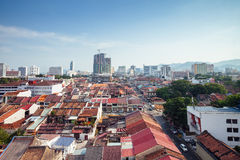 Panoramic view over Georgetown, Penang, Malaysia Stock Photo