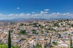 Panoramic view over Granada Stock Photos