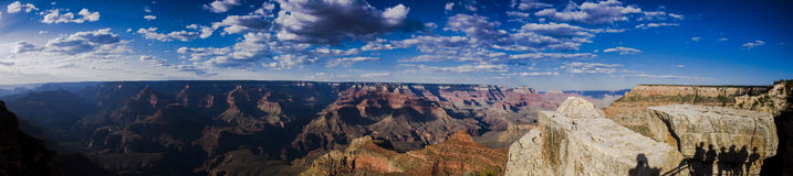Panoramic view over the Grand Canyon Royalty Free Stock Images