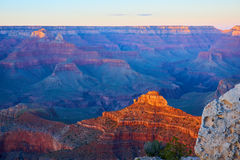 Panoramic view over the grand canyon at the sunset Stock Image