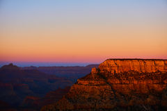 Panoramic view over the grand canyon at the sunset Stock Photos