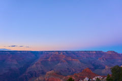 Panoramic view over the grand canyon at the sunset Royalty Free Stock Images