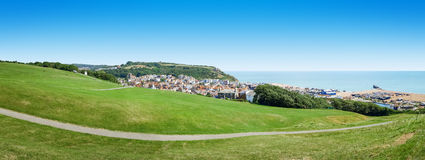 Panoramic view over Hastings UK Stock Image