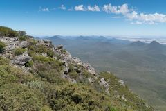 Stirling Range National Park, Western Australia. Panoramic view over the hills of the Stirling Range National Park close to Mount Barker, Western Australia Royalty Free Stock Image