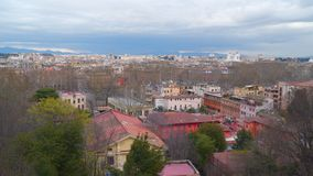 Panoramic view over the historic center of Rome. Italy stock video footage