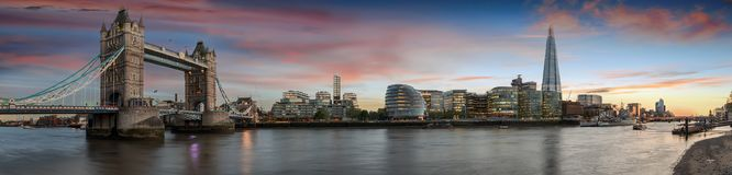 Panoramic view over the iconic skyline of London, United Kingdom royalty free stock photos