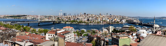 Panoramic view over Istanbul,Turkey Royalty Free Stock Photos