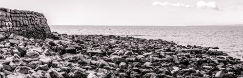 Panoramic view over Kimmeridge Bay Dorset England Royalty Free Stock Image