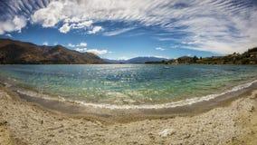 Panoramic view over Lake Wanaka in New Zealand Royalty Free Stock Photos