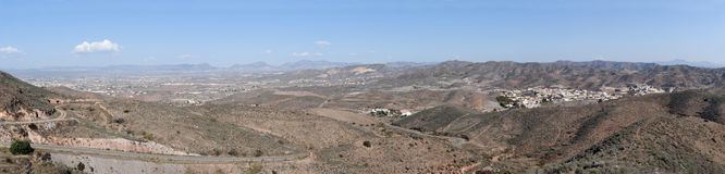 Panoramic View over Limaria Village Royalty Free Stock Photography
