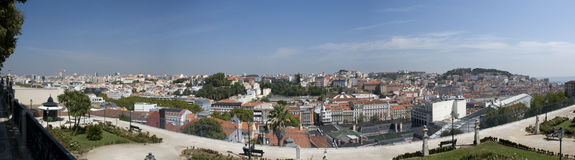 Panoramic view over Lisbon, Portugal Royalty Free Stock Photo