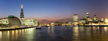 Panoramic view over London from the City Hall to the City Stock Photos