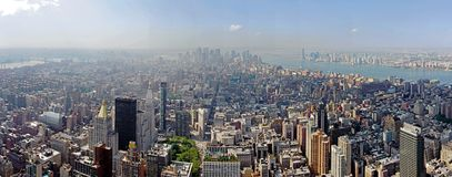 Panoramic view over Manhattan Royalty Free Stock Photography