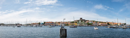 Panoramic view over Marstrand Stock Photo